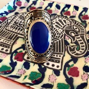 royal blue gem statement ring